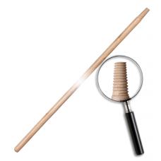 Черенок деревянный,  с резьбой, лакированный 120см