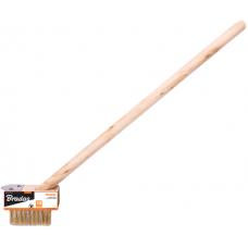 Щетка проволочная для плитки и брусчатки, длина 30см