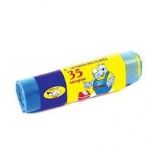 Мешки для мусора с завязками 35л, 15шт