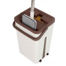 Комплект для уборки пола швабра и ведро с вертикальным отжимом